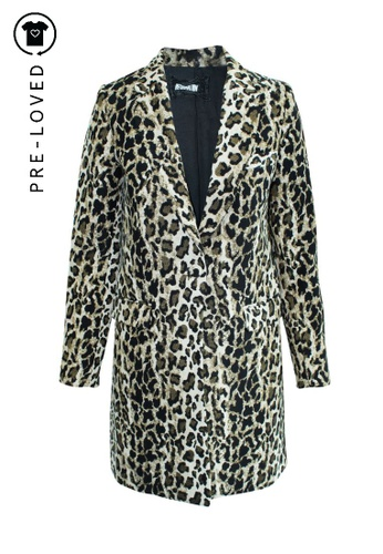 Reformation brown Pre-Loved reformation Leopard Print Coat 7AEF0AA3599A56GS_1