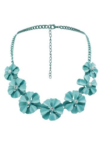 金屬花飾項鍊,zalora鞋子評價 飾品配件, 飾品配件