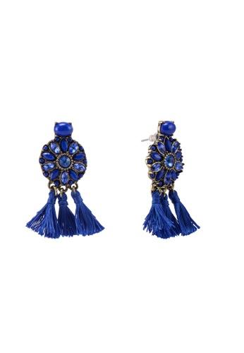BaubleBar 藍色 SUGARFIX by BaubleBar - 流蘇圓圈耳環 9D1D6AC2D145A1GS_1