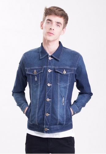 Drum Blue Denim Jacket DR425AA0SAQ5MY_1