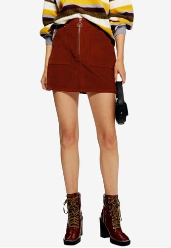 f339965a87 Buy TOPSHOP Petite Corduroy Zip Skirt Online on ZALORA Singapore