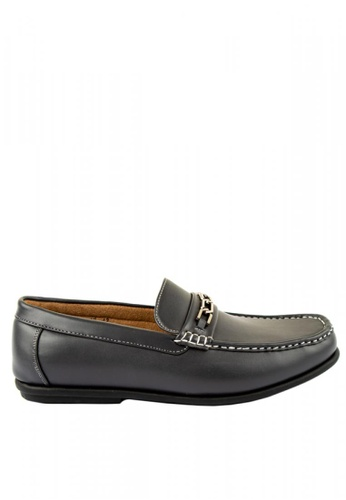 Otto grey Chain Detailed Slip-on Loafers F311ASH58B3B34GS_1