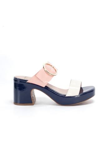 Shu Talk 白色 WONDERS 復古大扣舒適高跟涼鞋 182D0SHB992C43GS_1
