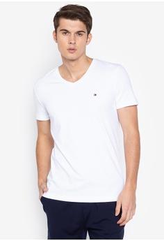 4b452bfa8be9b Tommy Hilfiger white Core Stretch Slim T-Shirt C1E1FAAD31E614GS 1