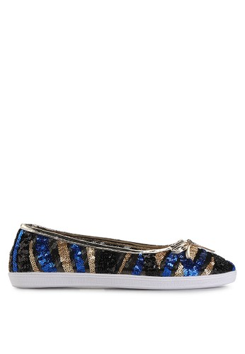 Mandy's blue Sequin Blue Flats MA947SH19EAAID_1