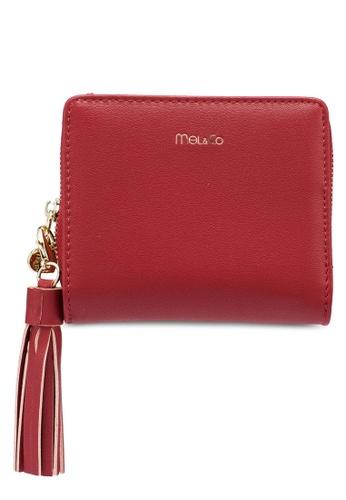 Mel&Co red Faux Leather Tassel Mid-Size Wallet D9805AC921D7EAGS_1