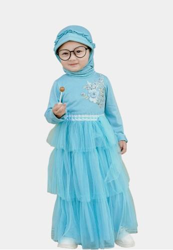 Pretty Girl Collection blue Fauzila Muslim Dress B0237KA817C644GS_1