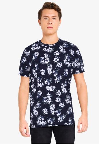 Abercrombie & Fitch blue Straight Hem Novelty T-Shirt 57D62AAC64D958GS_1