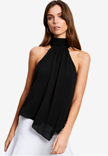 Tussah black Carlia Blouse 67CC0AA3560FCFGS_1