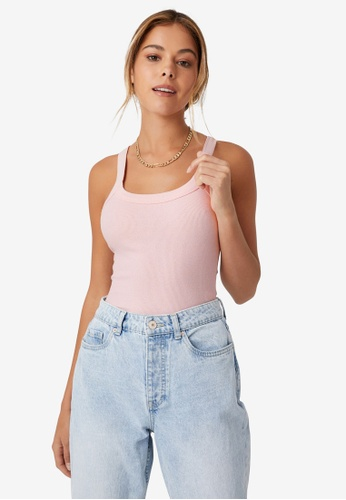 Supre pink Abby Scoop Neck Tank Top 7AB77AAE5CF816GS_1