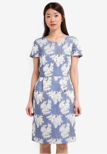 ESPRIT blue Woven Midi Dress 50983AAC58009CGS_1