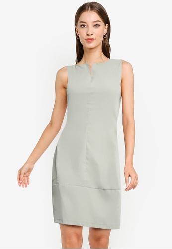 ZALORA WORK green Cut In Mini Dress 16896AA081056BGS_1