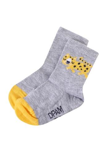 Du Pareil Au Même (DPAM) grey Ankle Socks 75C25KA672E467GS_1