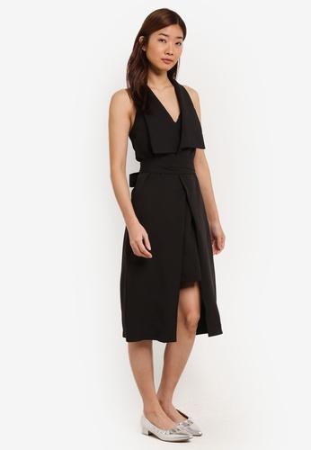 ZALORA black Double Layered Insert Dress 2A526AA692EEAEGS_1