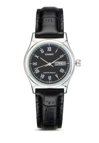 LTP-V006L-1BUDF 皮革小圓錶esprit 折扣, 錶類, 淑女錶