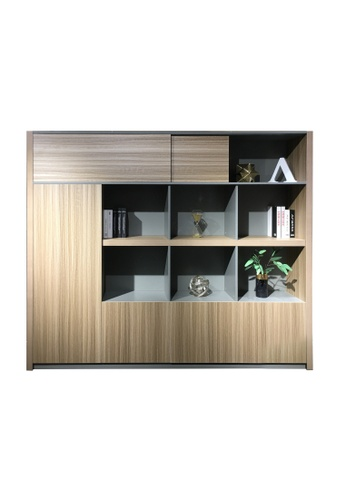 AMERCIS Amercis Minz Series 2400L Full Height Wooden Cabinet DC3ACHL2C0E399GS_1