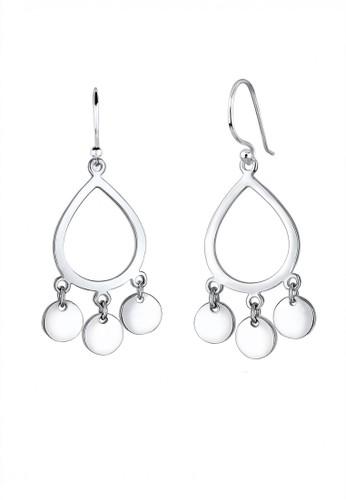 Elli Germany silver Perhiasan Wanita Perak Asli - Silver Anting Drop Boho EL948AC0U5Y1ID_1