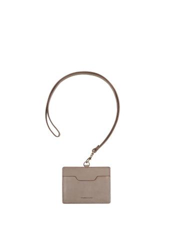RABEANCO grey RABEANCO Clipper Strap Card Case - Grey D519AACCC618E1GS_1