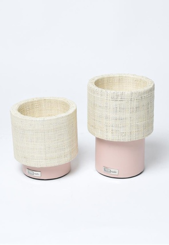 Grassroots pink Round Candle Holder (Short) 335FAHL9FF509DGS_1