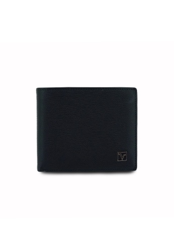 Valentino Rudy black and blue Valentino Rudy Duotone RFID Secure Leather Wallet VA677AC0FXQPSG_1