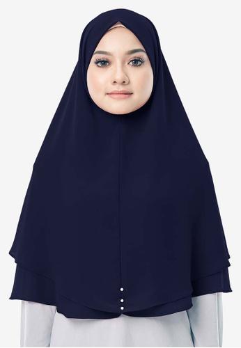UMMA 海軍藍色 Hayyan Khimar Hijab E9C9DAA74AD91BGS_1