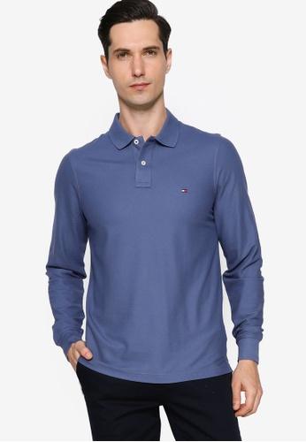 Tommy Hilfiger navy Ak Hilfiger Slim Long Sleeve Polo Shirt DF205AA01B702CGS_1