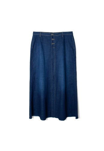 MS. READ navy MS. READ Denim Long Skirt (NAVY) 767BDAA7C8054AGS_1
