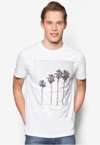 棕櫚印花精緻TEE、 服飾、 服飾NewLook棕櫚印花設計TEE最新折價