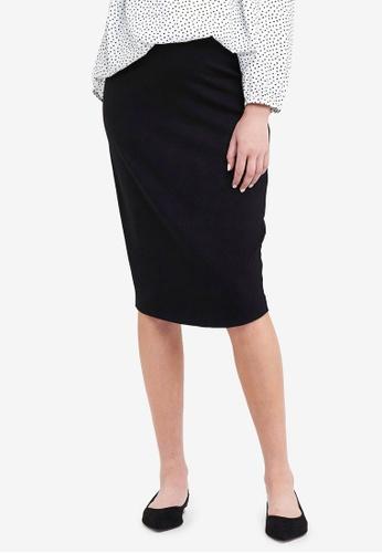 Ripe Maternity black Maternity Ponte Pencil Skirt 4B1D8AAAA7D92FGS_1