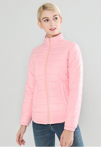 London Rag pink Puffer Jacket With Zipper Closure E0BF8AA8B684A2GS_1