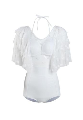 Its Me white Sexy Gauze Big Backless One-Piece Bikini Swimsuit 9238BUS4321768GS_1