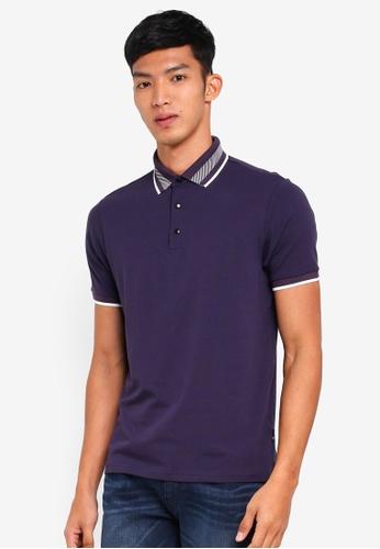Burton Menswear London 紫色 短袖POLO衫 3BE72AA4021D8AGS_1