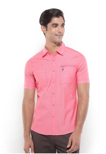 POLO HAUS red Polo Haus - Men Woven Shirt (Red) PO783AA71YRWMY_1