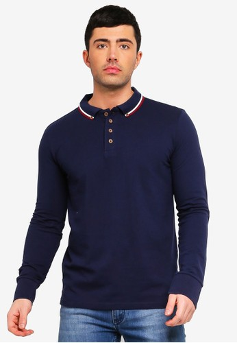 Brave Soul multi and navy Kennedy Polo Shirt 44E90AA4123783GS_1