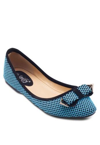 蝴蝶結菱格紋esprit 評價平底鞋, 女鞋, 鞋