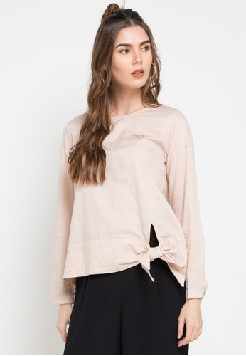 Expand beige Yena Top With Bow Inside D0C73AAA636E2FGS_1