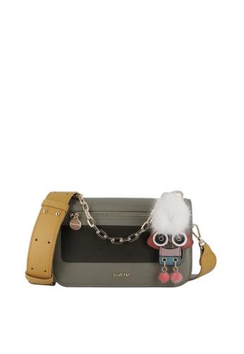 SEMBONIA grey Dorra House Chain Top-Handle Bag A611BACA186B4BGS_1