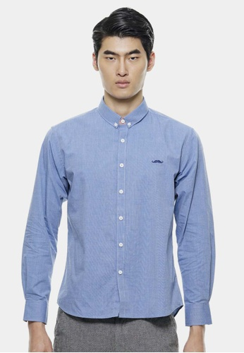 Private Stitch blue Smart Shirts with Signature Moustache PR777AA05OTQMY_1
