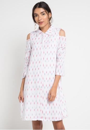 IKAT Indonesia by Didiet Maulana white Lavi Dress 8D68BAA7969D7EGS_1