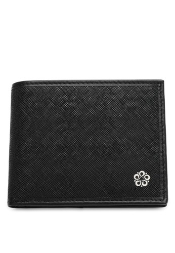 Wild Channel black Faux Leather Bifold Wallet 3DC3CAC6CFB66FGS_1