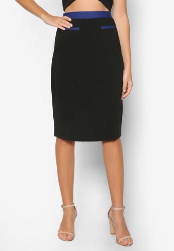 彈性色塊鉛筆短裙, 韓系時尚, esprit香港門市梳妝