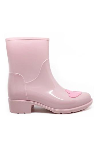 Twenty Eight Shoes 甜心圖案短雨靴MM8211 ACEABSH34FBFF0GS_1