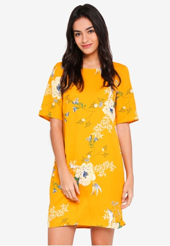 Vero Moda yellow Marty 2/4 Short Dress 47042AAD00C0FDGS_1