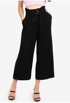 12247a8d8d Miss Selfridge black Black Cropped Wide Leg Trousers 2CCB1AA46E705DGS 1