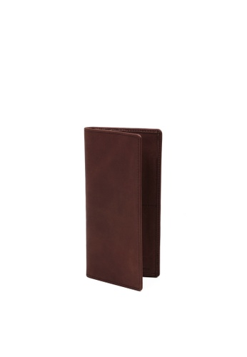 RABEANCO brown RABEANCO Bi-fold Long Wallet - Brown RA424AC2WF1IHK_1