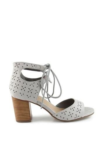 London Rag grey Grey Ankle Wrap Sandal 82C1CSHB481CA0GS_1
