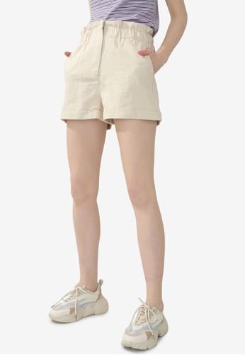 PIMKIE beige Casual Paperbag Shorts 84912AAE949988GS_1