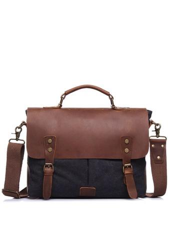 Twenty Eight Shoes Vintage Leather Wax Canvas Messenger Bags1807 71EDCAC740F1CCGS_1