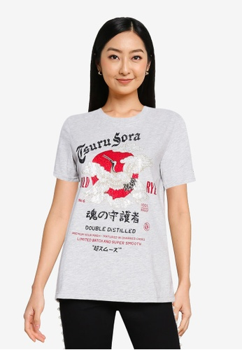 SUPERDRY 灰色 Rising Sun T-Shirt - Original & Vintage 2E195AA364E6BAGS_1