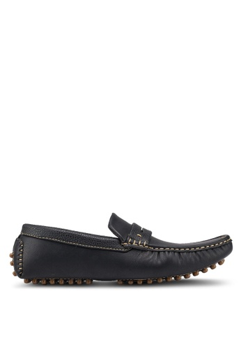 UniqTee 黑色 Casual Slip On With Penny Strap 837C5SH31F2A91GS_1